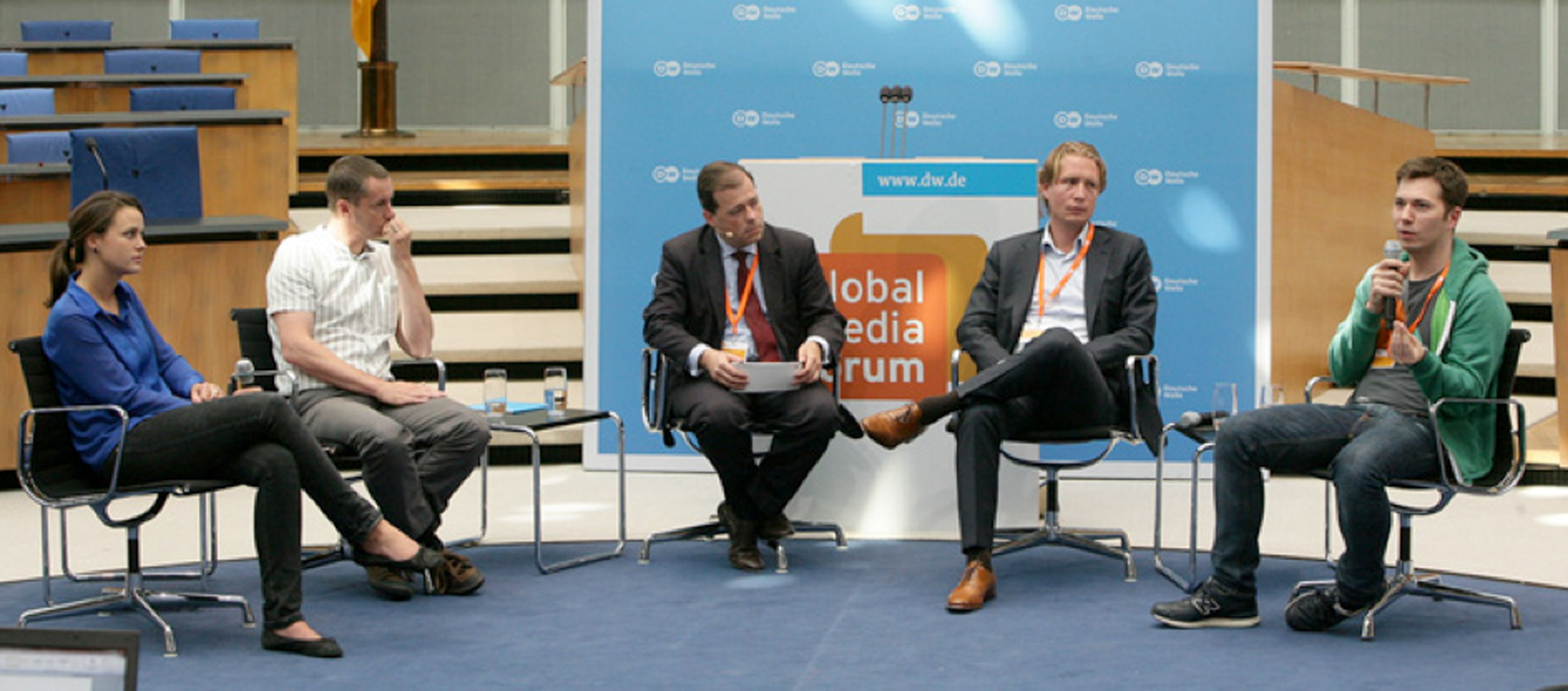 Panel discussion at the DW Global Media Forum