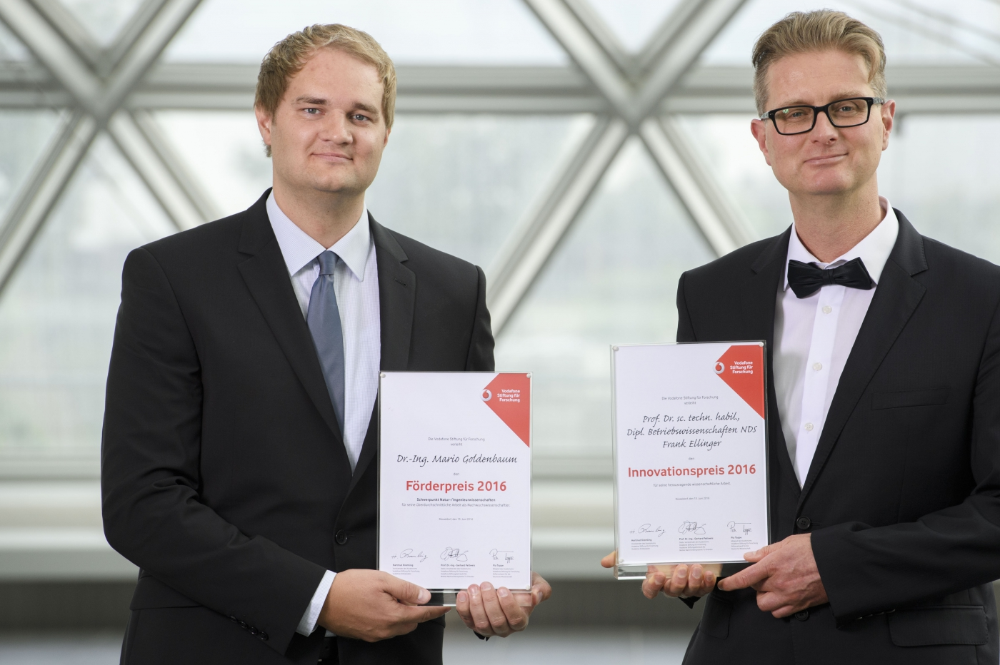 Vodafone Awards go to Frank Ellinger and Mario Goldenbaum