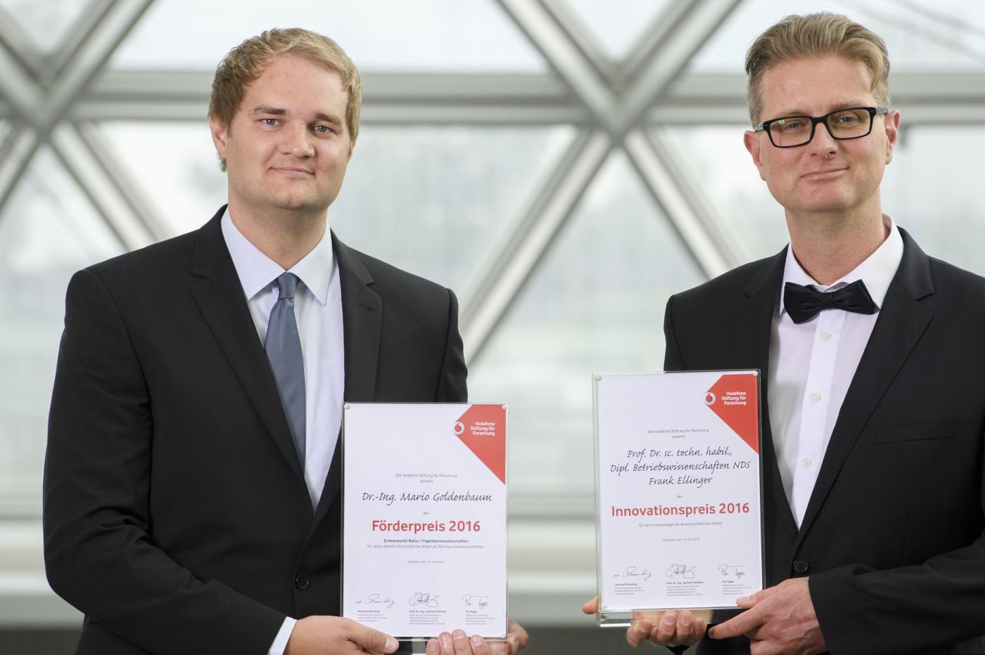 Innovationspreis für Frank Ellinger, Förderpreis für Mario Goldenbaum