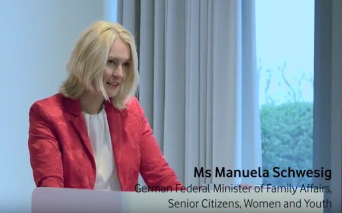 German Minister for Family Affairs, Manuela Schwesig, calls for more support to women working in the technology sector.
