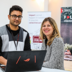 Founders of DigiSitter: Ashish Pratap and Katharina Schiederig