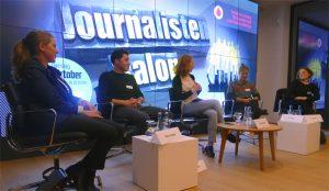 Tabea Grzeszyk, Paul Wolter, Teresa Sickert, Jana Tepe und Tina Groll (Credit: Vodafone Institute)