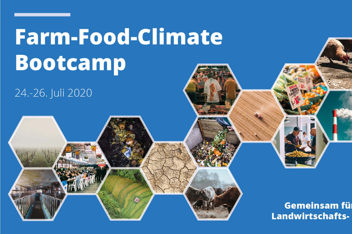Sei dabei: Farm-Food-Climate Bootcamp